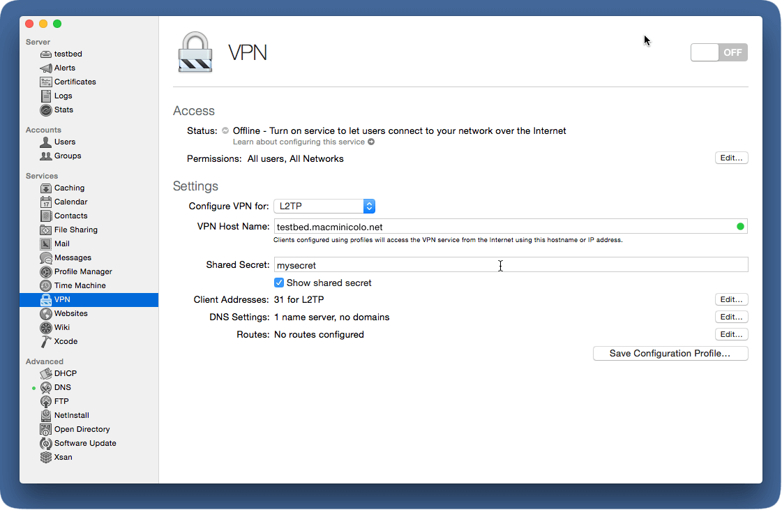 Setup a VPN with Yosemite Server 10 10 | Macminicolo Blog - Tips